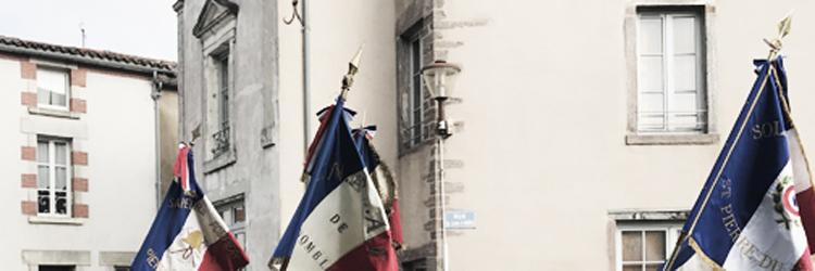 Franse vlaggen, een foto van bevrijdingsdag