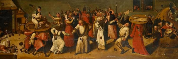 schilderij carnaval navolger Jeroen Bosch