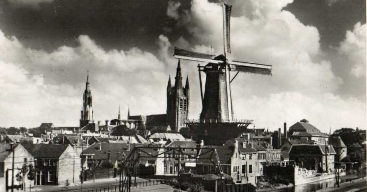 historisch delft molen kerk